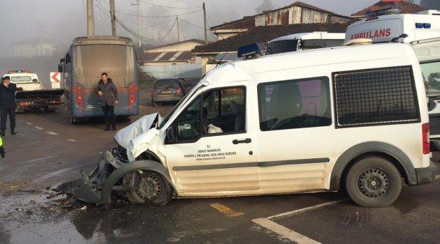 Cezaevi aracı kaza yaptı: 6 yaralı
