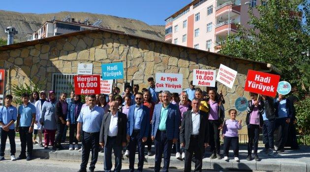Sağlık için yürüyüş düzenlendi