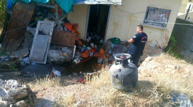 Doğanşehir'deki yangın korkuttu