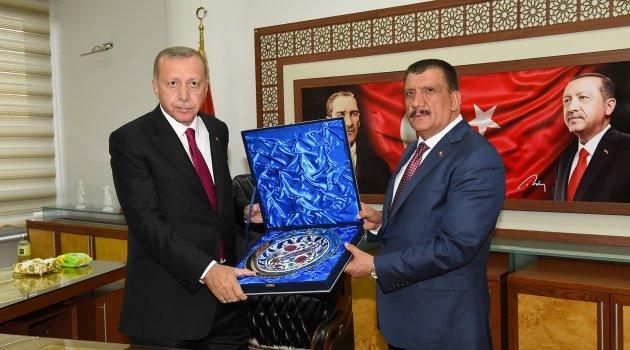 Erdoğan'dan Gürkan'a ziyaret