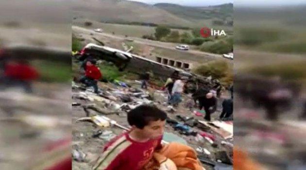Fas'ta yolcu otobüsü devrildi: 17 ölü 36 yaralı