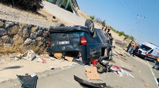 Ticari araç takla attı: 1 ölü 4 yaralı!