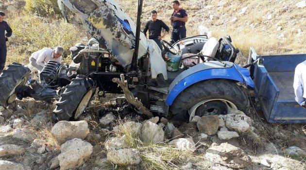 Hekimhan'da traktör devrildi: 6 yaralı