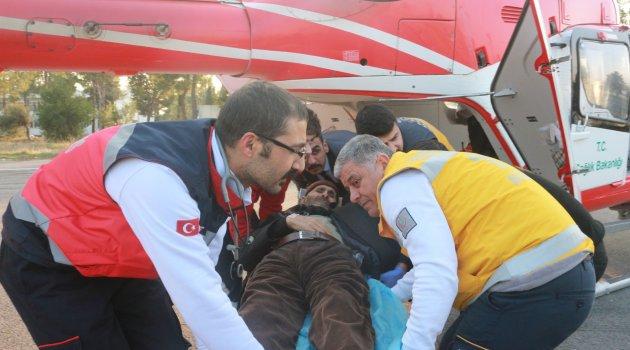 Helikopter hasta için havalandı