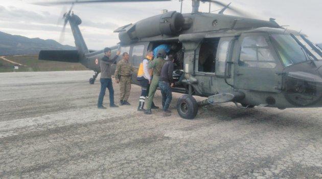 Helikopter Arda bebek için havalandı