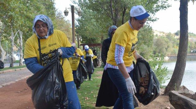 Kadınlardan çevre temizliği
