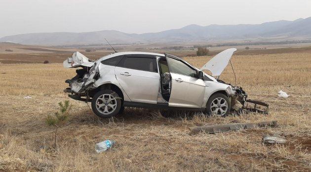 Kırşehir'de trafik kazası 1 yaralı