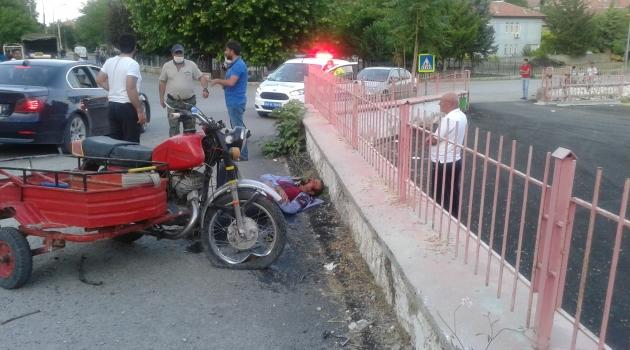 Motosiklet duvara çarptı: 1 yaralı