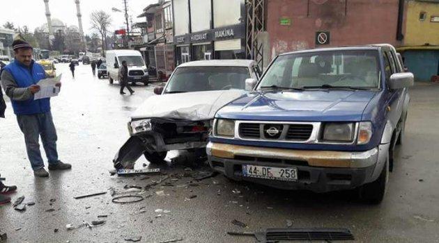 Sanayide maddi hasarlı kaza