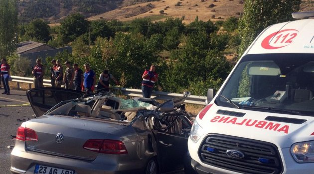 Malatya yolunda kaza: 3 ölü, 1 yaralı