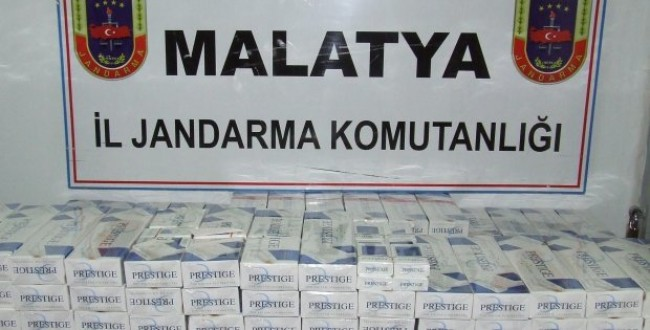 Malatya İl Jandarma Komutanlığınca, Kaçak Sigara Operasyonu !