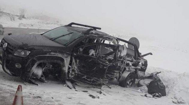 Malatya yolunda kaza: 1 ölü 3 yaralı