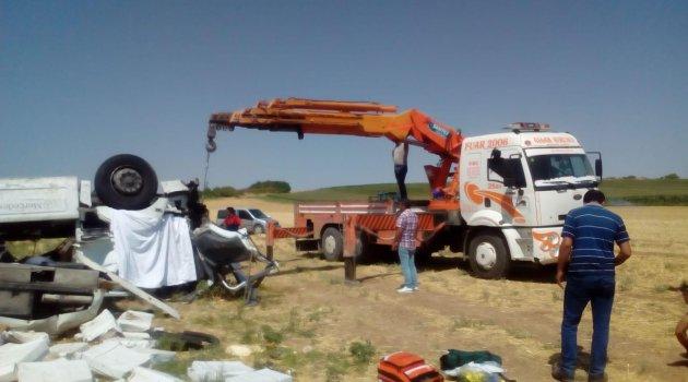 Mardin'de trafik kazası: 1 ölü 3 yaralı