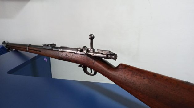 Mavzer tüfek ele geçirildi
