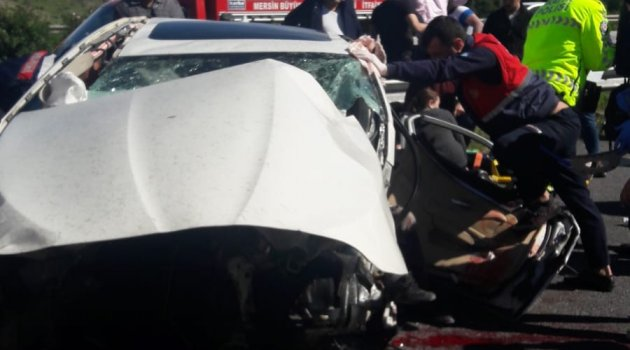 Mersin'de trafik kazası: 3 yaralı