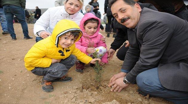 Minikler Çocuk Ormanı oluşturdu