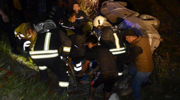 Muğla'da otomobil şarampole devrildi: 1 ölü 2 yaralı