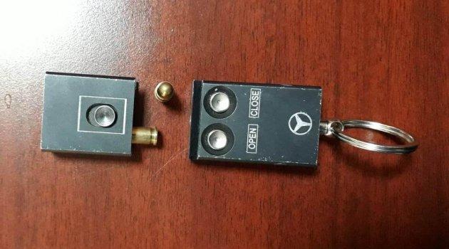 Anahtar görünümlü silah ele geçirildi