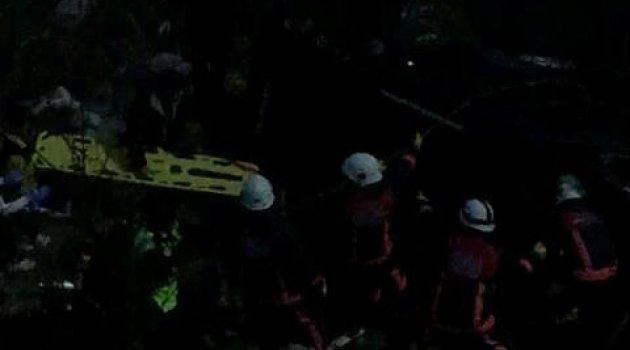 Şarampole uçan otonun sürücüsü yaralandı