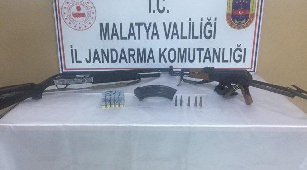 Silahlar ele geçirildi: 1 gözaltı