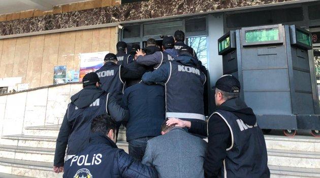 Suç örgütüne 11 tutuklama