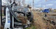 Kızlar kaza yaptı: 3 yaralı