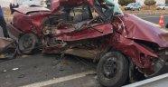 Karı koca trafik kazasında öldü