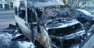 Almanya'da Diyanet'e ait araç yandı