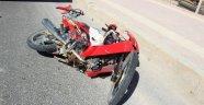 Motosiklet yayaya çarptı: 1 yaralı