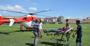 Hastanın imdadına hava ambulansı yetişti