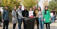 Fakültede çöp toplama etkinliği