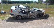 Doğanşehir'de kaza: 1 ağır yaralı