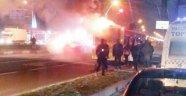 Otobüs yangını korkuttu
