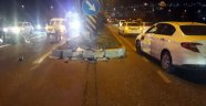 Kazada kaskı çıkan motosiklet sürücüsü öldü