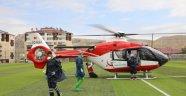 Hasta için ambulans helikopter kalktı