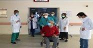 Korona virüsü yenerek taburcu oldu!