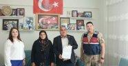 Şehit ailesinden Karakol ziyareti