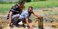 Bahçeye sondaj vurdurdu doğal maden suyu çıktı