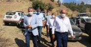 Kahtalı ve Çakır deprem bölgesinde incelemelerde bulundu