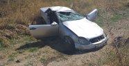 Ankara'da lüks otomobil takla attı: 1 yaralı