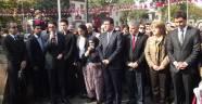 CHP Atatürk Anıtı'na Çelenk Koydu