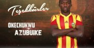 Evkur Yeni Malatyaspor Azubuike'ye veda etti