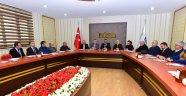 Gürkan, BİLSAM yöneticileri ile istişarede bulundu