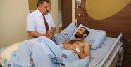 Gürkan, Darbe Mağduru Enes Gün'ü Ziyaret Etti