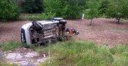 Hafif ticari araç devrildi: 6 yaralı