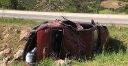 Kontrolden çıkan araç takla attı: 9 yaralı