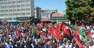 Malatya'da Mescid-i Aksa eylemi