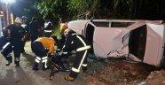 Polis kontrolünden kaçmak isterken kaza yaptı