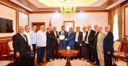 Vali Baruş'a Muhtarlar Derneği Başkanlarından ziyaret