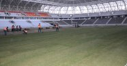 Yeni stadyumda çim serme işlemi tamamlandı